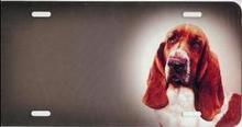 Blood Hound Airbrush License Plate