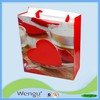 200g art paper laminated shopping bag with double nylon handle