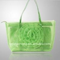 Fashion Nylon bag netting Beach tote bag