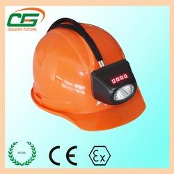underground coal mine safety helmet with head lamp