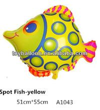 Colorful Spot tropical fish foil balloon