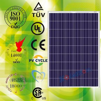 Best quality aluminum 210 watt craft energy china solar panels in china with TUV UL