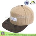 Personalizado strapback snapback tapas/sombreros con la etiqueta de cuero 100% strapback de lana sombrero