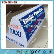 sticker taxi top advertising light box hot sale E1