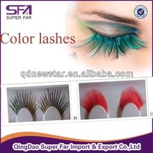 Wholesale prime silk lashes, colored faux eyelash