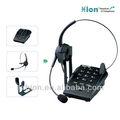 telefone analógico com porta fone de ouvido para o uso de call center