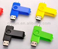 2013 New product OTG usb flash drive with double port