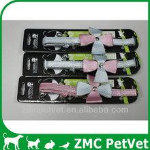 PU cat collar with flower-1