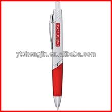 Cheap ballpoint plastic pen with color white plastic pen