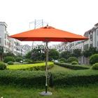 square orrange aluminum patio garden umbrella