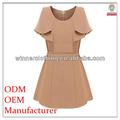 Ladies ' vestidos de manga plissado de alta qualidade direto fabricação vestido igreja