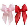 satin edge organza sheer ribbon pre tied bow with twist tie for cello favor bags /popular ribbon hair bow/gift ribbon bow