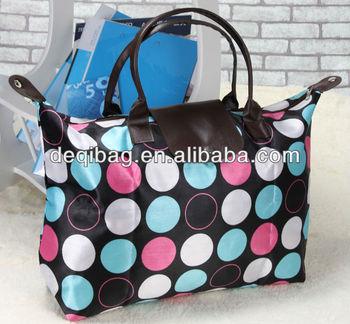 Easy taking foldable shopping bag for women simple shoulder bag for girl hot sale