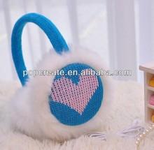 Fashion knitted blue earmuff