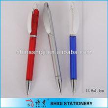 wide clip twist ball pen custom logo for promotion