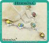 China Manufacturer Chain Jewelry Mosaic Jasper Stone Necklace Q6218