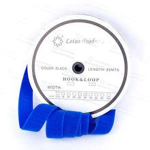 Velcro Loop Side 38mm Blue Color in Lotus Cardboard