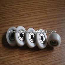 Nylon/plastic coated ball bearing pulley 6005ZZ