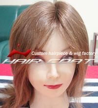 100% Human Hair Handtied Short Hair Blonde Wig