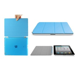 Ultra Slim Magnetic Leather Smart Cover For Ipad With Hard Back Case