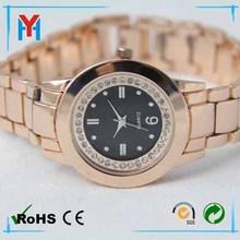 alloy man lady rose gold bang diamond watches