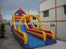 Spiderman inflatable bouncer slide/infltable water slide for sale