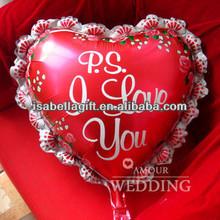 Wholesale Advertising valentine helium foil balloon