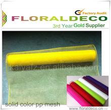 Yellow Poly Deco Mesh Wrap