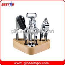 Wooden Base Wine Tool, Wine Tool Set