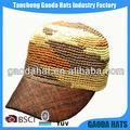 Palha chapéu da moda, palha de bonés de beisebol, palha chapéu de safári
