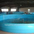 Grandes frp tanque de peces para la granja de peces, fibregalss tanque de los pescados