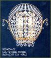 led decorativos de la pared de cristal de luz con dos luces