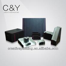 Black leather desk organizers CY-W340