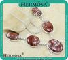 2014 Wholesale Cheap Fashion Accessory Red Jasper Necklace Q6813