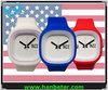 2014 Newest sports custom logo watches with 19 colors nylon strap
