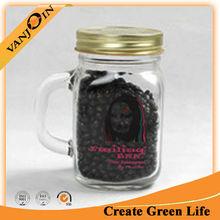 New Design Clear Glass Printing Mason Jar Promotion