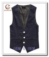 Black denim vests wholesale
