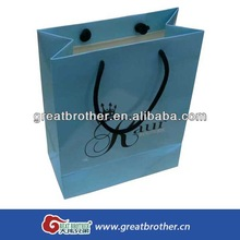 Top popular sale custom paper shopping bag/with lamination surface garment paper bag