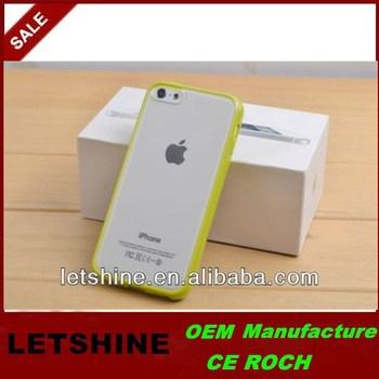 TPU Bumper Frame Back Cover Hard Pc Case for iPhone 5C