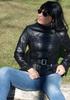 Italian soft Genuine lambskin leather slim fit asymmetrical women jacket color black