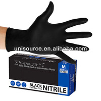 Black nitrile medical examination gloves, disposable special black nitrile gloves, nitrile gloevs in black colour