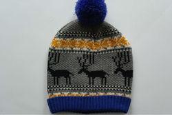 fashion knitted hats children cartoon pattern winter hat