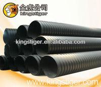 HDPE steel strip Reinforced Polyethylene plastic Corrugated drainage pipe