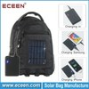 Factory sells 2.4 watts solar charger bag, solar power bag with 2200mah power battery