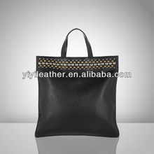 V630 2015 Simple PU leather hand bags Quality Black tote handbag for office lady