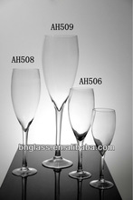 clear hand blown glass goblet