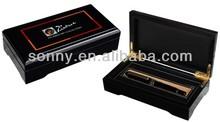 High glossy custom wood pencil pen case
