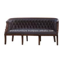 Classic Wooden Swan Sofa 3 Seat