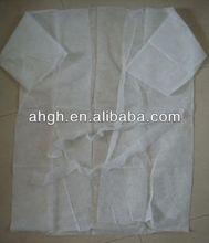 Short sleeve disposable PP non woven kimono