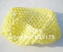 "CH 0002 1.5"" Top baby newborn wholesale soft yellow crochet tutu tops"